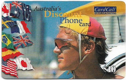 Australia - CardCall - Lifesavers, Lifesaver & Flag (Without Barcode Reverse), Remote Mem. 10$, Used - Australie