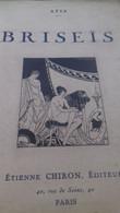 Briseïs ATIS étienne Chiron 1923 - Books, Magazines, Comics