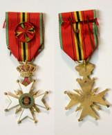 Militaria_302-I_Croix Fédération Nationale Des Combattants Belgique Avec Rosette_FNC_1940-1945_WW2 - Medals