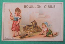 Chromo CIBILS. Cibils Bouillon Cibils. Enfants. Balais. Chat Chaton  Nouveau Jeu - Non Classificati