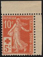 France N°147, Semeuse Croix-Rouge 1914, Neuf ** Sans Charnière COTE 100 € - TB - Ungebraucht
