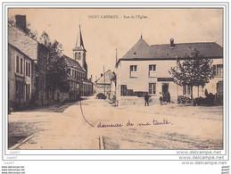 """Cpa Réf-  JP-O-876 (  Dép-08 -  à SIGNY-L'ABBAYE  )    Rue De L'Eglise    """""""" En Face Un Commerce """" - Otros Municipios"""