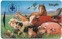 New Zealand - NZT (GPT) - Fund Cards - Montage Of Animals, 1993, 5$, 29.000ex, Used - Nuova Zelanda