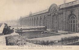 CPA( Paris)inondation 1910 Gare Des Invalides  (b.bur Theme) - La Crecida Del Sena De 1910