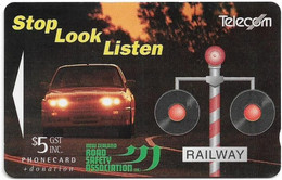 New Zealand - NZT (GPT) - Fund Cards - Stop Look Listen (Collectors Issue 1994), 1994, 5$, 4.400ex, Used - Nuova Zelanda