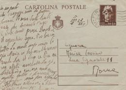 INTERO POSTALE L.1,20 1946 - Piccole Pieghe (KP562 - 6. 1946-.. Repubblica