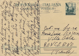 INTERO POSTALE QUADRIGA L.20 CLORODONT (KP564 - 6. 1946-.. Repubblica