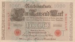 BANCONOTA GERMANIA 1000 1910 UNC (KP710 - 1000 Mark