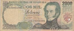BANCONOTA VENEZUELA 2000 BOLIVARES VF (KP728 - Venezuela