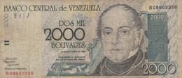 BANCONOTA VENEZUELA 2000 BOLIVARES F (KP729 - Venezuela