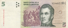 BANCONOTA ARGENTINA 5 PESOS VF (KP746 - Argentina