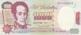BANCONOTA VENEZUELA 1000 BOLIVARES 1998 EF (KP752 - Venezuela