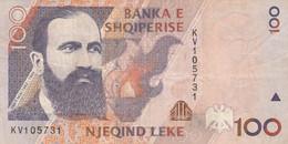 BANCONOTA ALBANIA 100 LEKE VF (KP753 - Albania