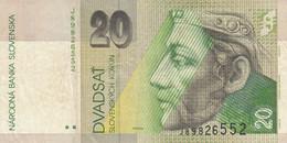 BANCONOTA SLOVENIA 20 VF (KP754 - Slovenië