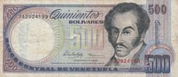 BANCONOTA VENEZUELA 500 BOLIVARES 1998 VF (KP757 - Venezuela