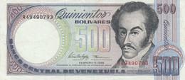 BANCONOTA VENEZUELA 500 BOLIVARES 1998 EF (KP759 - Venezuela