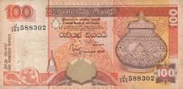 BANCONOTA 100 RUPEES SRI LANKA VF (KP780 - Sri Lanka