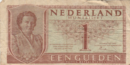 BANCONOTA OLANDA 1 GULDEN 1949 F (KP789 - [2] 1815-… : Kingdom Of The Netherlands