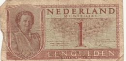 BANCONOTA OLANDA 1 GULDEN 1949 F (KP791 - [2] 1815-… : Kingdom Of The Netherlands