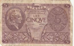BIGLIETTO DI STATO LIRE 5  ITALIA F (KP794 - [ 1] …-1946: Königreich