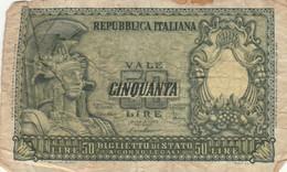 BANCONOTA ITALIA 50 LIRE F (KP796 - 50 Lire