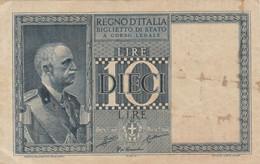 BIGLIETTO DI STATO 10 LIRE ITALIA VF (KP798 - [ 1] …-1946: Königreich