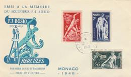 FDC MONACO 1948 (KP811 - FDC