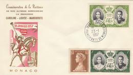 FDC MONACO 1957 (KP814 - FDC