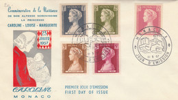 FDC MONACO 1957 (KP816 - FDC