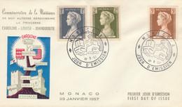 FDC MONACO 1957 (KP817 - FDC