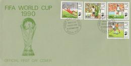 FDC FIJI CALCIO FIFA WORLD CUP 1990 (KP822 - Fiji (1970-...)