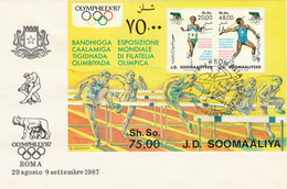 FOGLIETTO ANNULLATO SOMALIA 1987 (KP824 - Somalie (1960-...)