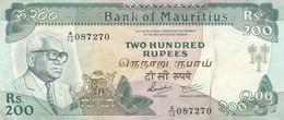 BANCONOTA MAURITIUS 200 RUPEES EF (KP827 - Mauritius