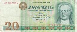 BANCONOTA 20 MARK 1975 DDR EF (KP828 - [ 6] 1949-1990: DDR - Duitse Dem. Rep.