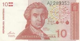 BANCONOTA CROAZIA 10 DINARA VF (KP843 - Kroatien