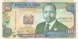 BANCONOTA KENIA 10 SHILLING 1993 EF (KP867 - Kenia