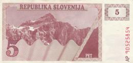 BANCONOTA SLOVENIA 5 EF (KP872 - Slovenië
