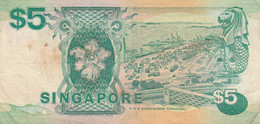 BANCONOTA SINGAPORE 5 $ VF (KP877 - Singapore