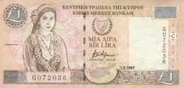 BANCONOTA CIPRO 1997 1 LIRA EF (KP883 - Cyprus
