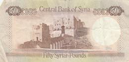BANCONOTA SYRIA 50 POUNDS VF (KP884 - Siria