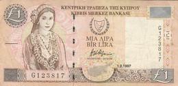 BANCONOTA CIPRO 1997 1 LIRA VF (KP893 - Cyprus