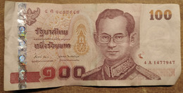 BANCONOTA THAILANDIA 100 VF (KP898 - Thailand