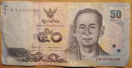 BANCONOTA THAILANDIA 50 VF (KP899 - Thailand