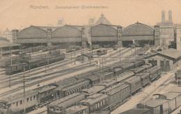 CARTOLINA VIAGGIATA MUNCHEN STAZIONE 1906 (KP962 - Muenchen