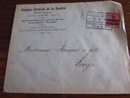 14-18: Lettre Affranchie à 10 Centimes Oblitérée Des ETAPES De GENT En 1916.Censure Et Signature Du Lieutenant Au Verso - Guerra '14-'18