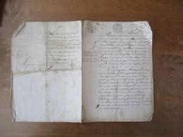 14 Xbre 1817 TESTAMENT DE MARIANE DORNEAU EPOUSE DE PIERRE PETIT PROPRIETAIRE VIGNERON VILLAGE DE FONTENAY A SAINT SATUR - Manuskripte