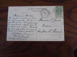 Carte Vue De CHAUSSEE-NOTRE-DAME-LOUVIGNIES Oblitérée Du RELAIS Idem Pour Le RELAIS De CAMBRON-ST-VINCENT  En 1911 - Storia Postale