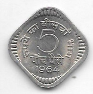 *india  5 Paisa 1964 C Km 17   Unc/ms63 - India