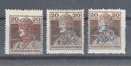 Hungary Debrecen Debreczin 1919 Mi#39 A, B And C - Red, Black And Blue Overprint, Mint Hinged - Debreczen