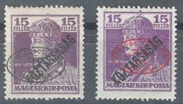Hungary Debrecen Debreczin 1919 Mi#57 A And B, Mint Hinged - Debreczen
